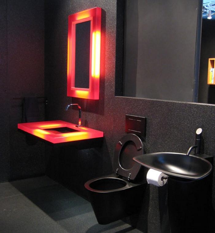 Дизайн ванных комнат в черном цвете