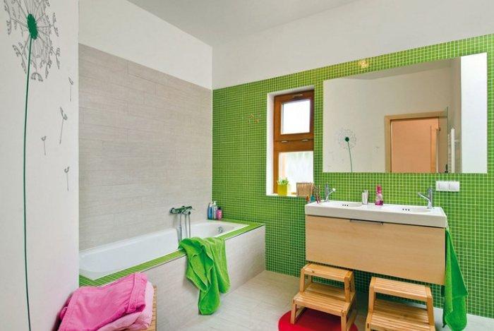 интерьер детской ванной комнаты