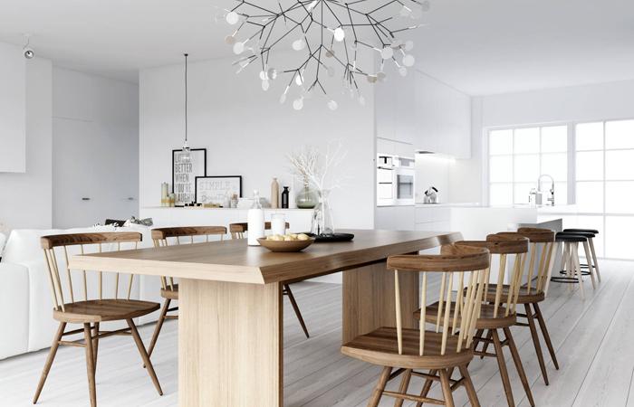 интерьер кухни в норвежском стиле