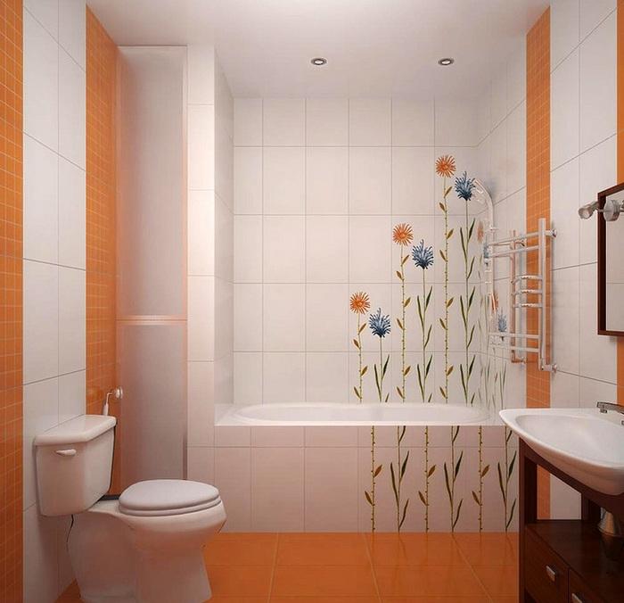 Фото ванна в оранжевом цвете фото